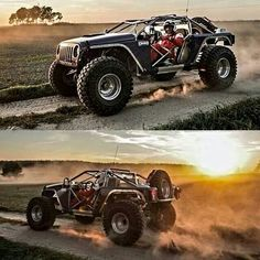 Cool Jeeps, Cool Trucks, Big Trucks, Cool Cars, Jeep Jk, Jeep Truck, Badass Jeep, Custom Muscle Cars, Lifted Cars