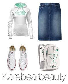 Cute by karebearbeauty on Polyvore featuring polyvore, fashion, style, The North Face, Uniqlo, Converse and clothing