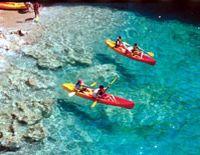 kayaking about the Adriatic Sea in Dubrovnik, Croatia