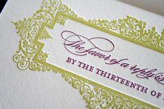 Classic + Elegant Letterpress Wedding Invitations - http://herbigday.net/classic-elegant-letterpress-wedding-invitations-2/