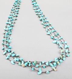 Multi Strand Turquoise Chip Stone Long Necklace by Summerwrist, $17.00