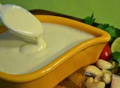 Ingredientes   1 xícara (de chá) de castanha de caju crua   1 dente de alho sem o miolo   1/2 xícara (de chá) de água   1 colher (de sopa...