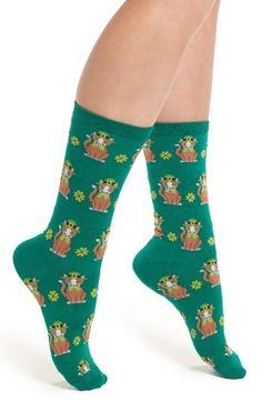 Free shipping and returns on Hot Sox St. Patrick's Day Cat Socks (3 for $15) at Nordstrom.com. Go ahead, lucky charms are a good investment.