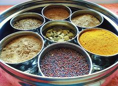a Masala Dabba - great for keeping spices at hand for Indian Cooking