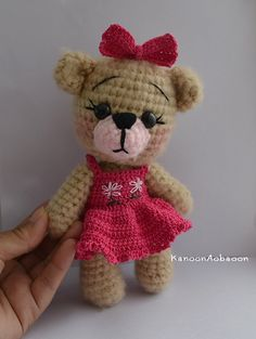 Amigurumi Bear Small Crochet Bear Gifts for Girls par KanoonAobaoon
