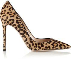 Gianvito Rossi 100 leopard-print calf hair pumps