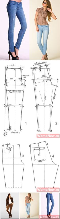 Pattern of jeans | WomaNew.ru - lessons of dressmaking