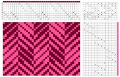 shaded-twill-draft #weaving #twill #blocks