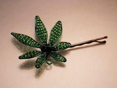 Marijuana Leaf Bobby Pin