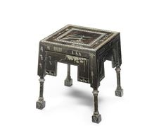 Carlo Bugatti (1856-1940) A Small Side Table, Circa 1900.