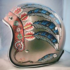 Indian Headdress helmet. Love!!!