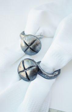 Custom made napkin ring holder for the man's new home...screw napkin holders