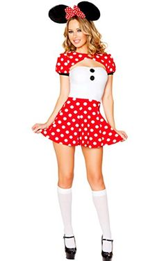 ACEVOG Women Adult Milk Maid Minnie Mouse Costume Halloween Outfit Fancy Gown - http://bestreviewsone.com/acevog-women-adult-milk-maid-minnie-mouse-costume-halloween-outfit-fancy-gown.html