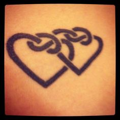 Celtic hearts tattoo, but with