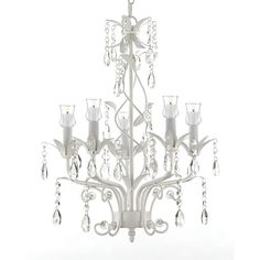 Lane Wrought Iron & 5 Light Chandelier W/ Candle Votives - Indoor / Outdoor