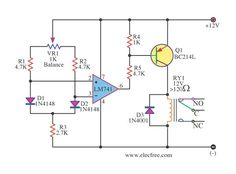 Dfferential Temperature Relay Switch by IC 741