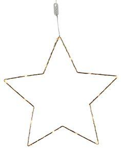 Zlatá kovová dekorativní hvězda se světelným LED drátkem od švédské značky Star Trading k dostání na e-shopu Bella Rose.