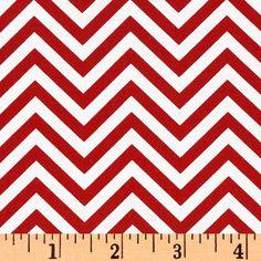 Red Chevron Fabric