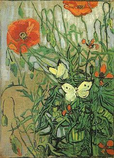 Vincent van Gogh (1853-1890) - Poppies and Butterflies (April 1890 - May 1890) - van Gogh Museum, Amsterdam