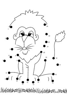 Do you know the similarities of cartoons and drawing? Yup, they are both made based on the imagination of the creator. Kids will love watching cartoons, and you must have watched cartoons like Winnie the Pooh, SpongeBob Squarepants, Dora the Explorer, Mario Bros or other cartoon characters like dragons and lions. What if the kids… Lion Coloring Pages, Coloring Sheets, Coloring Pages For Kids, Kindergarten Worksheets, Worksheets For Kids, Printable Worksheets, Free Printable, Joining Dots, Dot To Dot Printables
