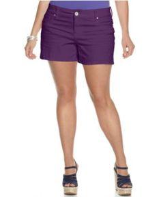 Seven7 Jeans Plus Size Shorts, Colored Denim - Macy's