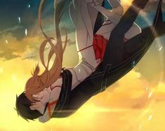 Sword Art Online Kirito et Asuna Otaku Anime, Anime Pokemon, Anime W, Anime Girls, Schwertkunst Online, Arte Online, Online Anime, Sao Ggo, Kirito Asuna