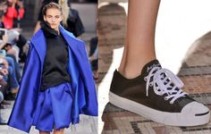 Paris Fashion Week - Sotto i riflettori di Parigi calca la passerella la collezione per la prossima primavera estate 2014 di Moon Young Hee .http://www.sfilate.it/206253/pfw-gonne-ampie-sneakers-moon-young-hee