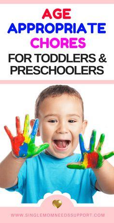 Age Appropriate Chores For Toddlers And Preschoolers - #Motherhood #Singlemotherhood #Singlemoms #Singlemomlife #Toddlers