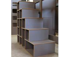 Escalier avec rangements, largeur 129 x profondeur 50 cm x hauteur 129 cm