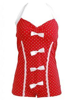Red Polka Dot Bow Lace Trim Retro Pin up Rockabilly Women's Swimsuit Swimwear - Small PinupClothingOnline,http://www.amazon.com/dp/B00ESGQKYM/ref=cm_sw_r_pi_dp_IY5Jsb0R6984G5G8