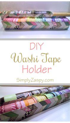 DIY Washi Tape Holder | Simply Zaspy