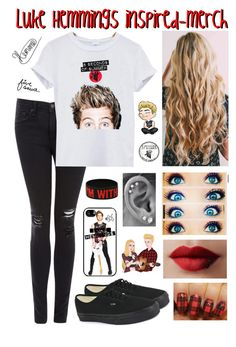 """Luke Hemmings inspired-merch"" by roxouu ❤ liked on Polyvore featuring mode, rag & bone/JEAN, Vans et Kay Jewelers"