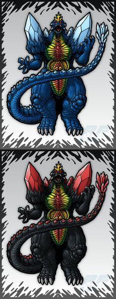 Trendmasters Space Godzillas by AlmightyRayzilla