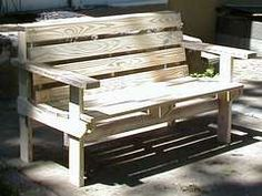 one pallet bench...saw a bunch of pallets at goowill would love to get one to try and make this