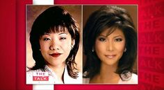 Julie Chen reveals her plastic surgery before and after on 'The Talk' on CBS.