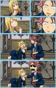 This scene was hilarious! xD NaLu moment too!
