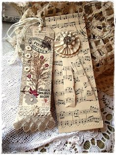 books, bookmarks, cottag, dream, california, sheet music, music sheets, christma, paper rosettes