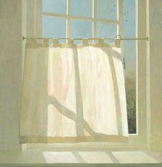 open studio window with swifts - 2007 - oil on panel - 82,5 x 80 cm