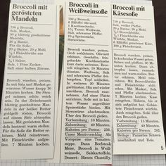 Diverse Brokkoli