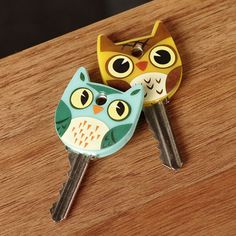 Next time you're reaching for your keys, no need to make it a miserable fumbly mess. Take a word from the bird & slip these handsome owl covers onto your keys.