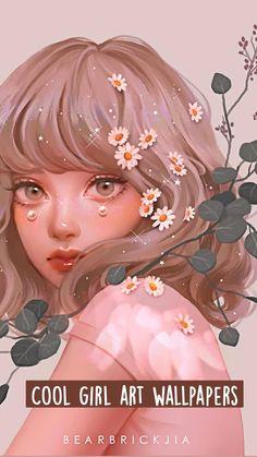 Digital Art Fantasy, Digital Art Girl, Anime Art Girl, Manga Art, Cute Anime Girl Wallpaper, Daisy Art, Black Love Art, Art Inspiration Drawing, Digital Art Tutorial