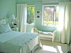 Mint Green Color Scheme | wandfarbe-mintgrün-Mint-Green-Color-Scheme-For-Bedroom-1