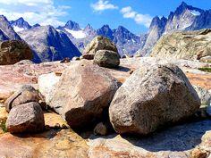 Boulders.