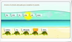 """""""El artículo"""" (Juego de Lengua Española de Primaria) Spanish Language, Teaching Resources, Prayers, Learning, Games"""