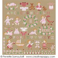 Pony Club cross stitch pattern by Perrette Samouiloff | Point de croix, Broderie, Enfance