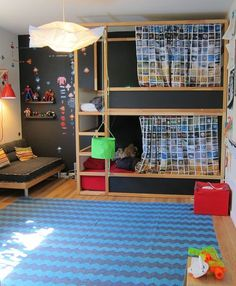 chalk board style bunk bed