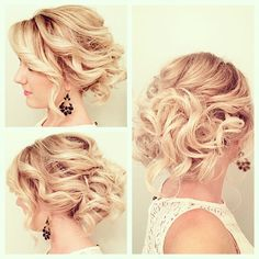 Wedding hairstyles for short hair updos 1 Loose Updo, Short Hair Updo, Short Wedding Hair, Short Hair Cuts, Medium Hair Styles, Curly Hair Styles, Natural Hair Styles, Natural Beauty, Natu Hair
