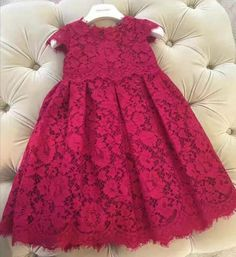 Handmade Burgundy/Dark Red Cap Sleeve Knee Length Embroidered Lace Dress Perfect for Birthday, Wedding, Christmas or any special day. Available from 9 month until 15 years old Material: Cotton and tulle mesh Please do compare your little girl measurements with our size chart below before deciding her size