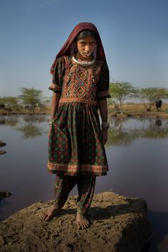 Dhaneta Jat girl tribe in the great Rann of Kutch by Anthony Pappone.