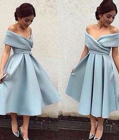 homecoming dresses,simple blue short prom dress, retro prom dresses, light blue evening dress